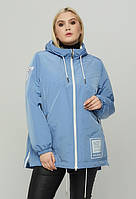 Женская модная А-образная куртка весна/осень больших размеров баталы (50,52,54,56,58,60,62,64)