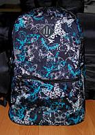 Рюкзак детский,городской объем 15 литров (голубые бабочки), фото 1