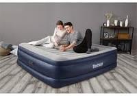 Надувная кровать Bestway 203 x 193 x 56, со встроенным электронасосом