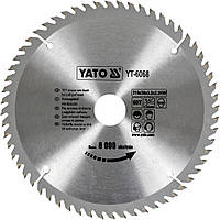 Диск пильный по дереву YATO YT-6068 210 х 30 x 3.2 x 2.2 мм 60 зубцов R.P.M до 8000 1/хв