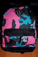 Рюкзак детский,городской объем 10 литров (розовый принт), фото 1