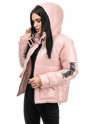 Куртка женская демисезонная (розовый), фото 2