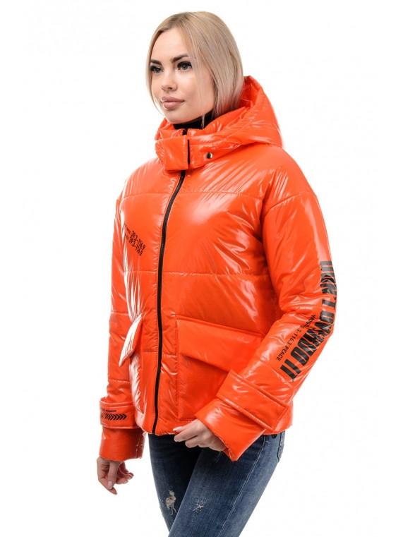 Куртка женская демисезонная (оранжевый)