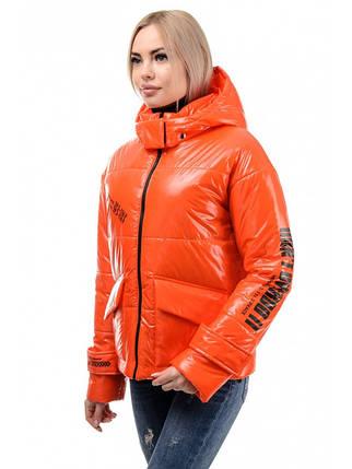 Куртка женская демисезонная (оранжевый), фото 2