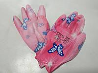 Перчатки рабочие DALIA 2121X женские розовые цветок