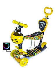 """Самокат Scooter 5in1 """"Карусель"""" с сиденьем и родительской ручкой"""