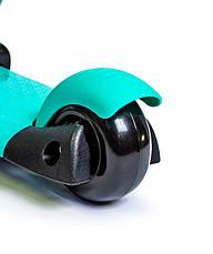 Самокат Scooter Smart 3in1. Бирюзовый цвет. (Смарт-колеса!), фото 3