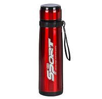 🔝 Металлический спортивный термос с поилкой Sport 800 ml Красный | для чая и кофе (из нержавейки) | 🎁%🚚