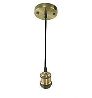 Светильник подвесной TESLA Е27 бронза