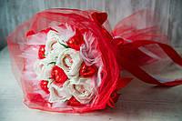 Букет из конфет Белые розы