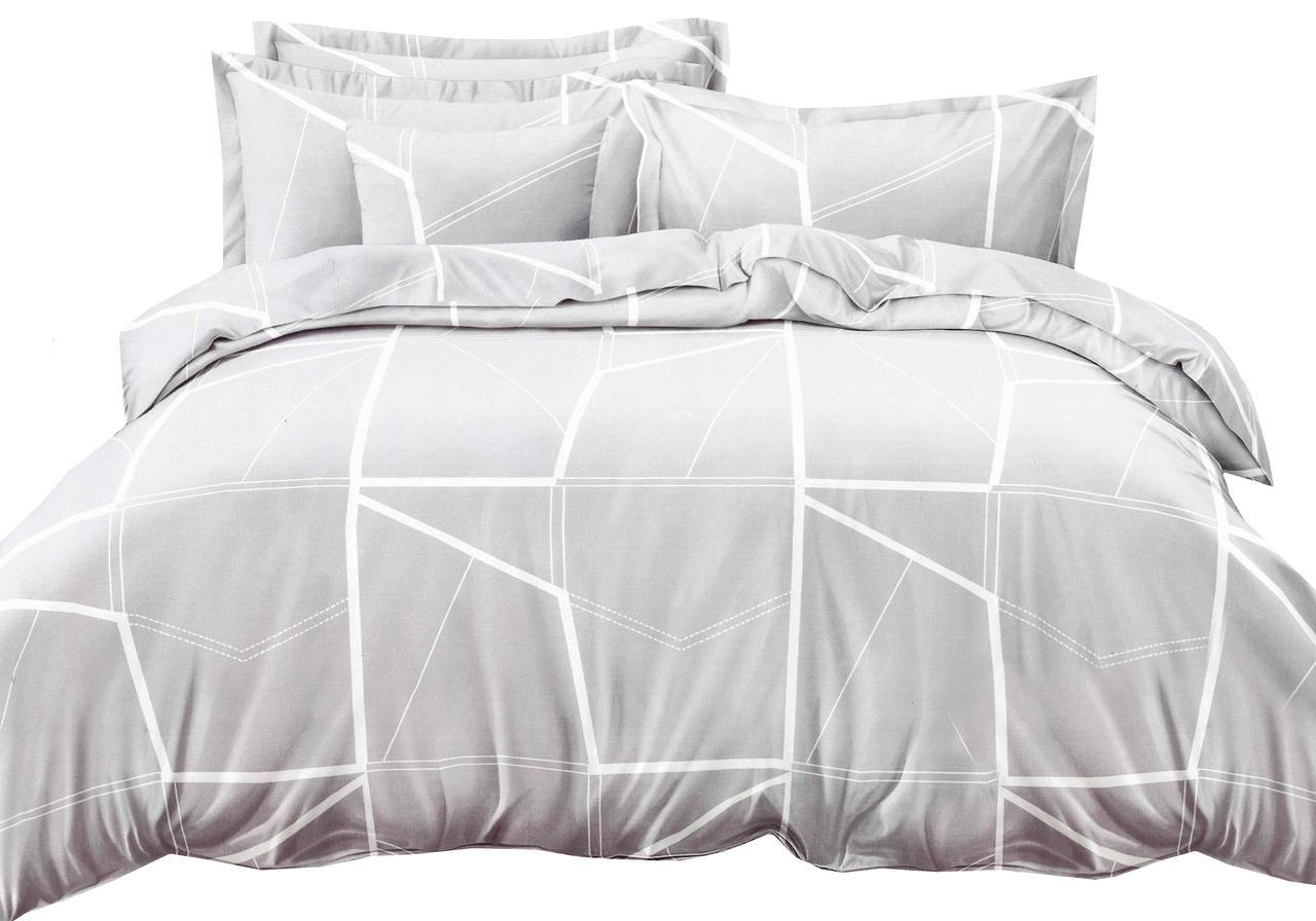 Комплект постельного белья Микроволокно HXDD-505 С геометричным узором M&M 6678