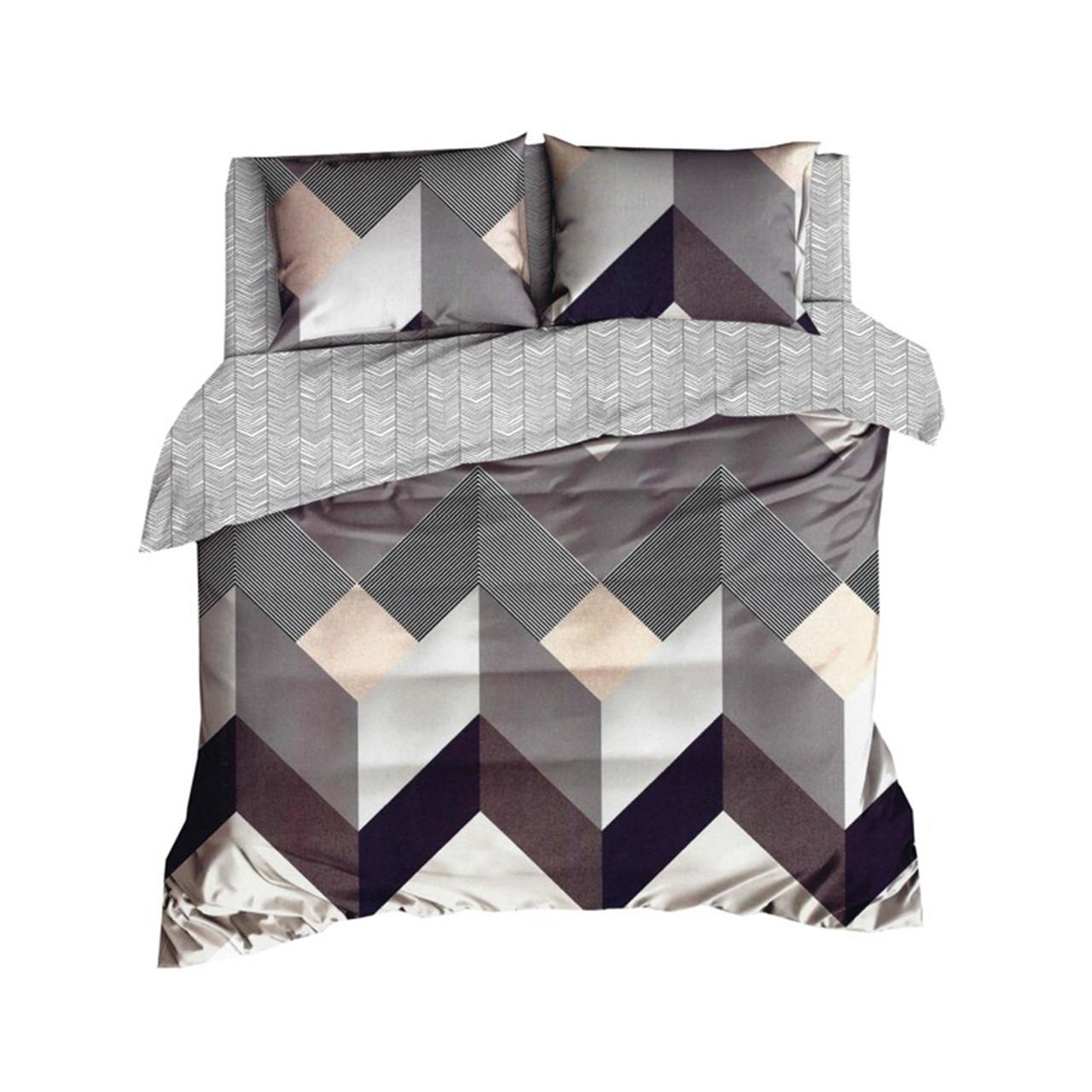 Комплект постельного белья Микроволокно HXDD-449 С геометричным узором M&M 4481