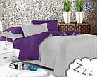 Комплект постельного белья Микроволокно HXDD-547 Двухцветный M&M 8532, фото 2