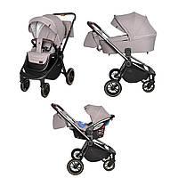 Детская универсальная коляска CARRELLO Epica CRL-8511/1 (3в1) Бежевый (CRL-8511/1 (3в1) Almond Beige)