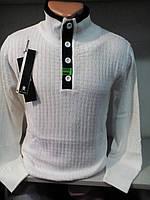Мужской свитер белый на пуговицах
