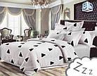 Комплект постельного белья Микроволокно HXDD-660 В треугольники M&M 9828, фото 2