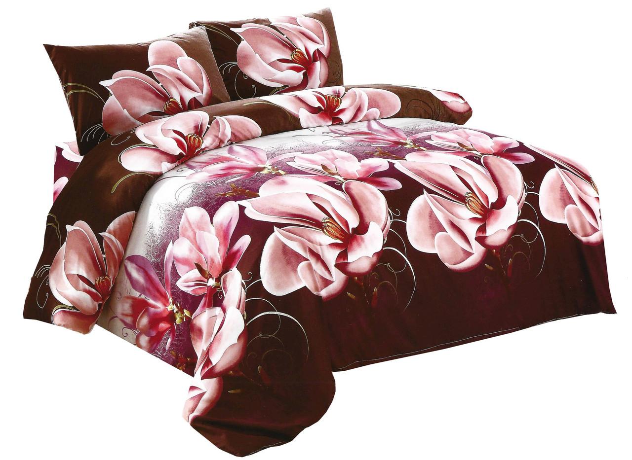 Комплект постельного белья Микроволокно HXDD-175 M&M 0050 Коричневый