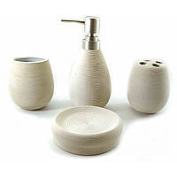 Набор для ванной керамический белый (23х27,5х9 см)