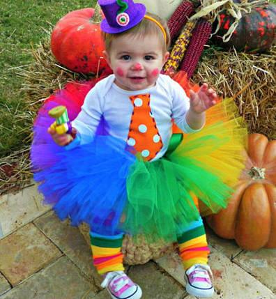"""Карнавальна сукня-спідниця з фатину """"Клоунеса"""", фото 2"""