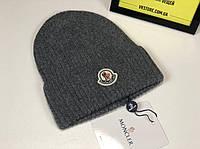 Серая шапка Moncler, фото 1