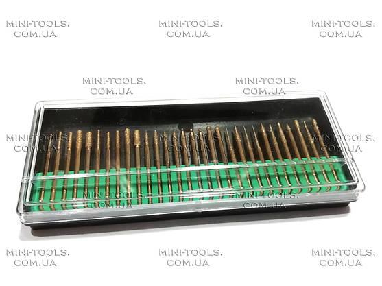Алмазні бори 30шт. (дрібна фракція, жовті) YDS Tools Хвостовик Ø 3 мм, фото 3