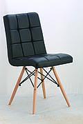 Стілець Оскар (ноги дерево) (асортимент кольорів) Чорний