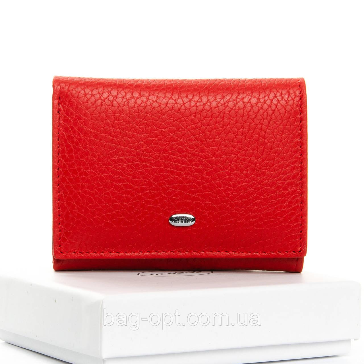 Женский кошелек кожаный Dr.Bond (8,5x10,5x2,5 см) красный