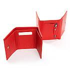 Женский кошелек кожаный Dr.Bond (8,5x10,5x2,5 см) красный, фото 3