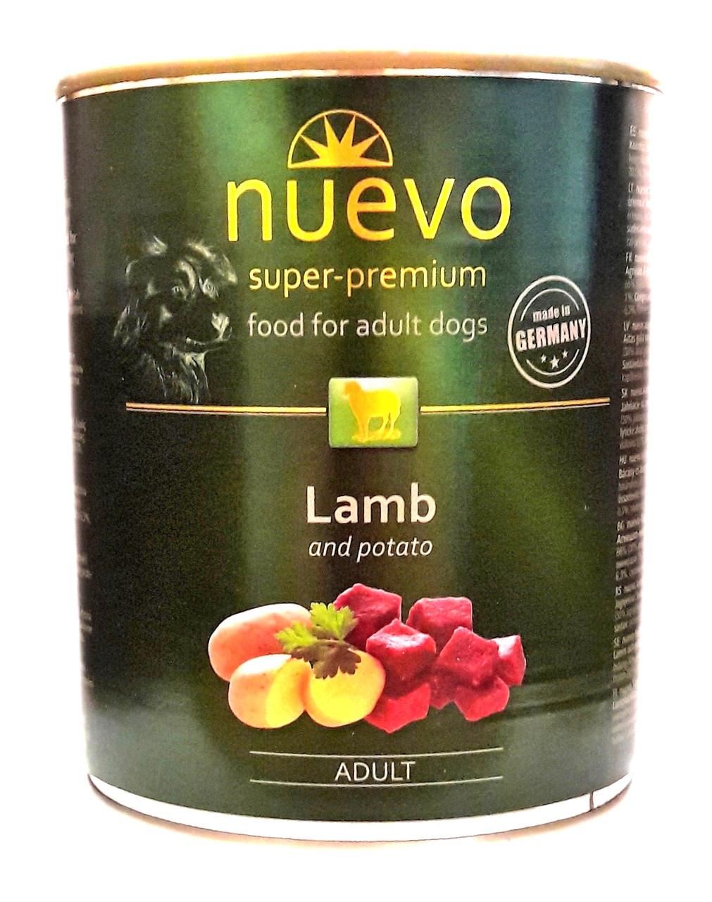 Консервы для собак Нуэво Nuevo Lamb and Potato с ягнёнком и картофелем 800 г