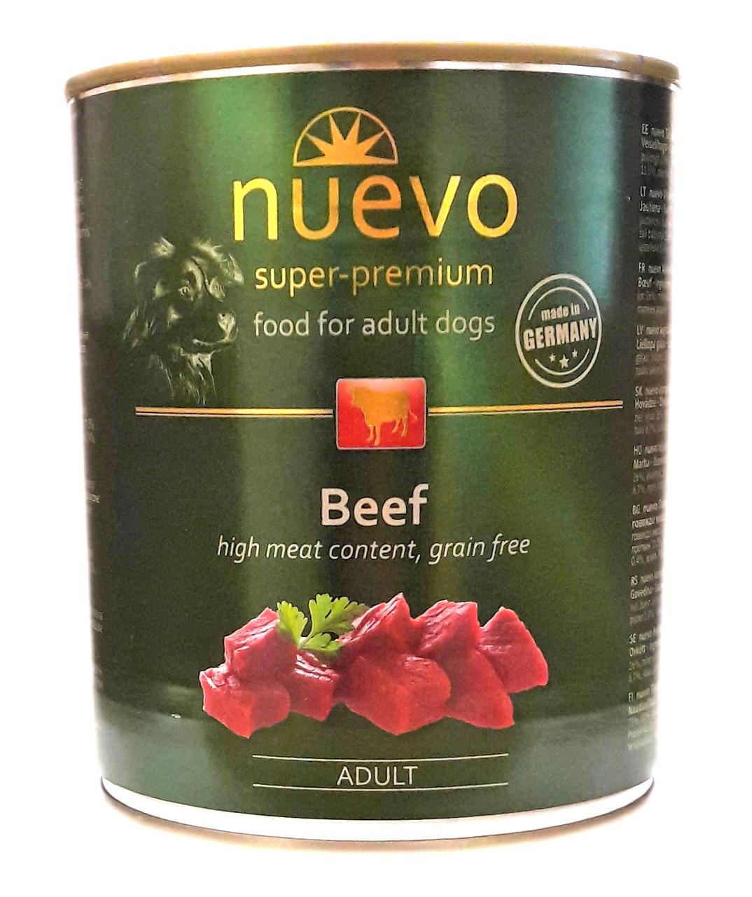Консервы для собак Нуэво Nuevo Beef с говядиной 800 г