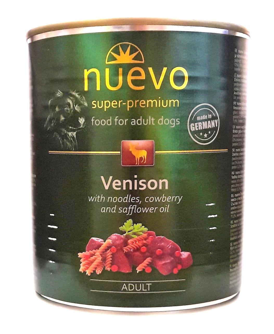 Консервы для собак Нуэво Nuevo Venison с олениной, лапшой и брусникой 800 г
