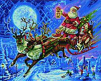 Алмазная мозаика Санта в новогоднюю ночь SKL40-229170