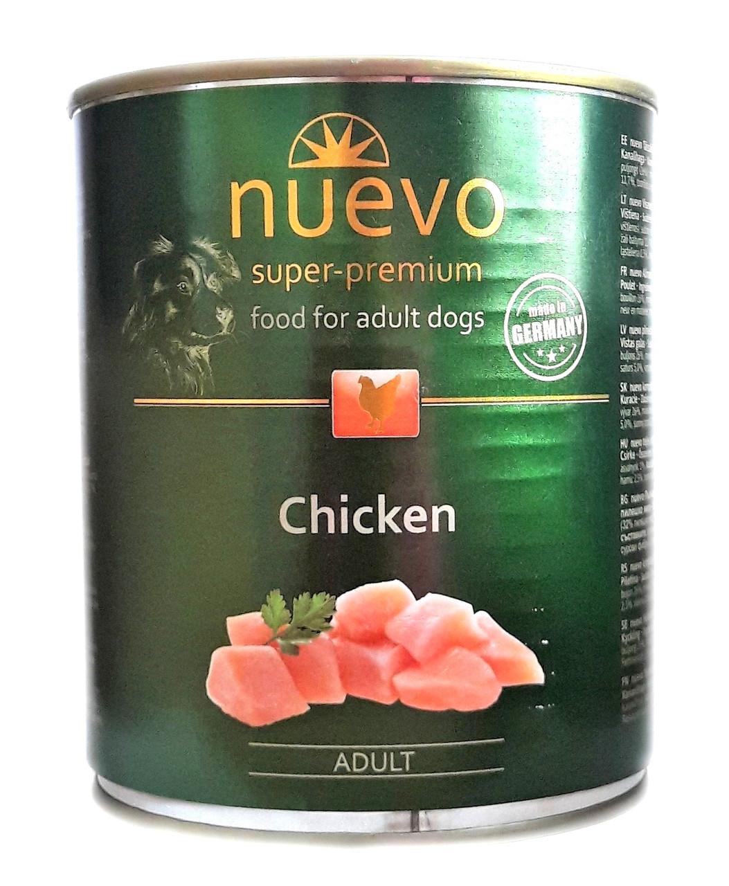 Консервы для собак Нуэво Nuevo Chicken с курицей 800 г