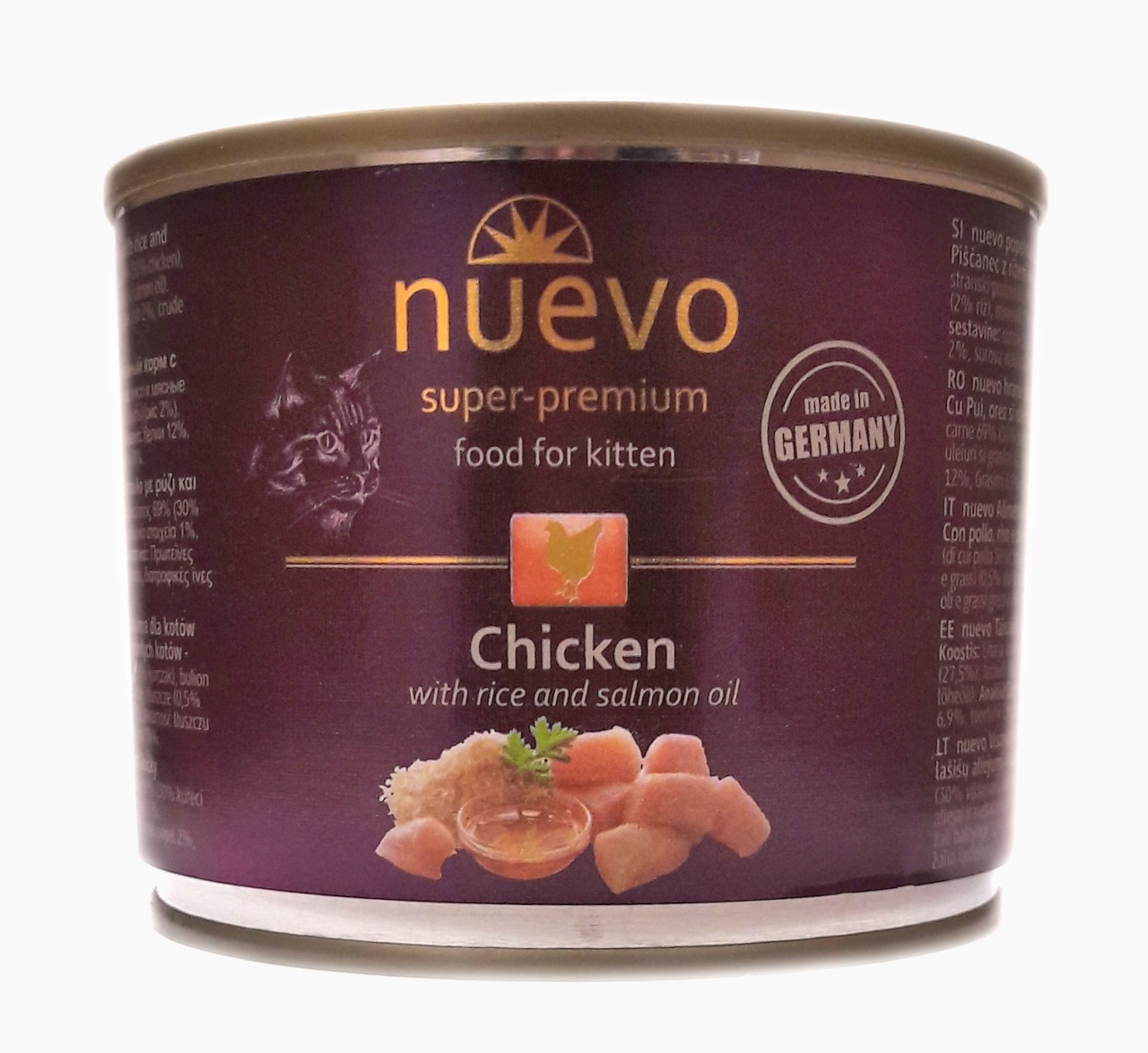 Консервы для котят Нуэво Nuevo Kitten с курицей 200 г
