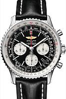 Брендовые кварцевые мужские часы Breitling Navitimer Черные Показатель успеха современного мужчины Код: КШ0857