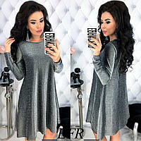 Красивое вечернее платье из люрекса 46-48 р серебро