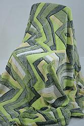 Плед микрофибра рифленый 180х200 см Зеленый