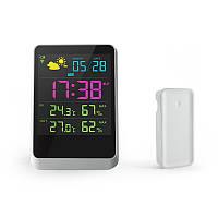 Цифровая метеостанция с цветным дисплеем и выносным беспроводным радио датчиком