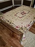 Скатерть (клеенка)для стола,на тканевой  основе золото ,120*150см