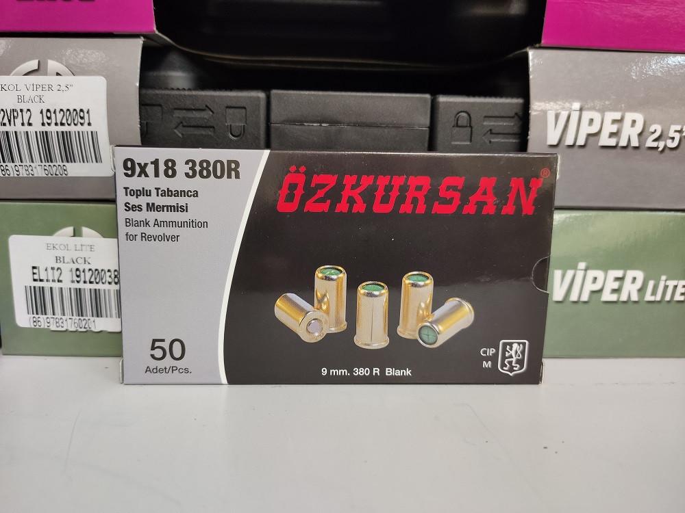 Патроны холостые Ozkursan 9 мм (50 шт) револьверные
