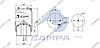 Пневморессора со стаканом в сборе (сталь) SCANIA 1DF20A352174 \1440306 \ SP 550306-K, фото 2