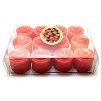Ароматизированные свечи для дома красные 12 шт