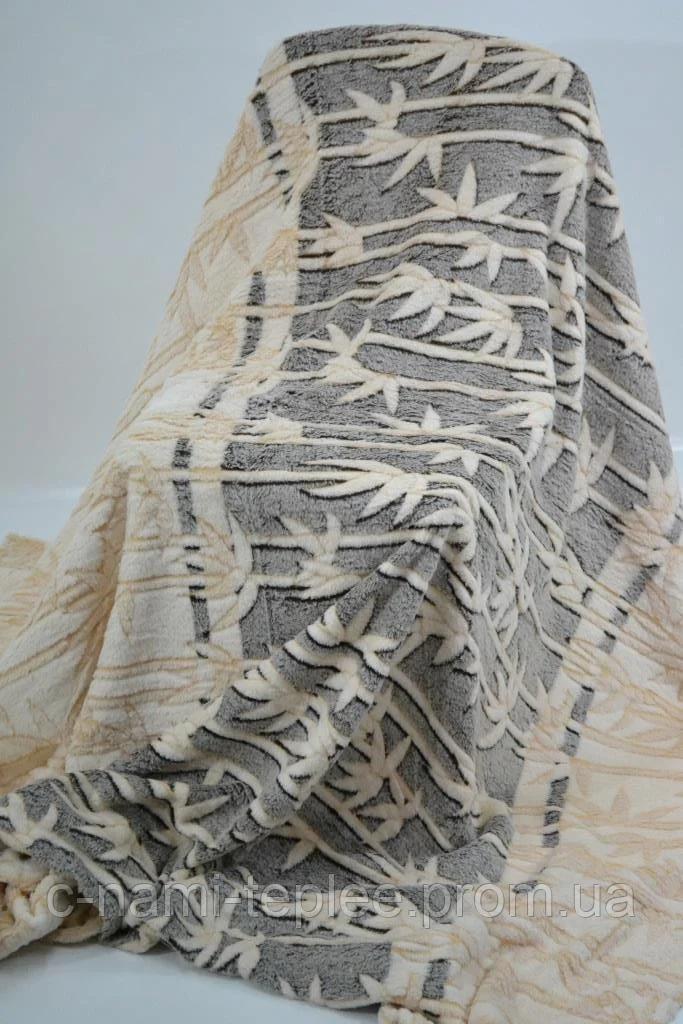 Плед микрофибра рифленый 200х230 см Бамбук
