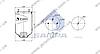 Пневморессора без стакана 4004NP05 (2618) SAF (без стакана,2 шп. M12 по центру,1 отв. штуц. M22х1.5мм) \4284300301 \ SP 554004, фото 2