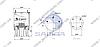 Пневморессора со стаканом в сборе (пластик) SAF 2923V \SP 554023-KP, фото 2