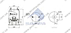 Пневморессора со стаканом в сборе (сталь) 4156NP09 ROR MERITOR FRUEHAUF (металлический стакан) (1шп.M12 1шп-шт.M1220) (d300x380) \M001472 \ SP, фото 2