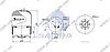 Пневморессора со стаканом в сборе (сталь) MERCEDES Actros MP2, 4183NP26, (со стаканом, отв. М16мм, штуцер М24мм) \9423202321 \ SP 554183-K02, фото 2