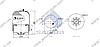 Пневморессора со стаканом в сборе (сталь) Mercedes Atego 4185NP21 \9423203021 \ SP 554185-K, фото 2