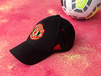 Бейсболка с логотипом Манчестер Юнайтед кепка спортивная Черная