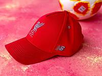 Бейсболка с логотипом Ливерпуль спортивная кепка Красная